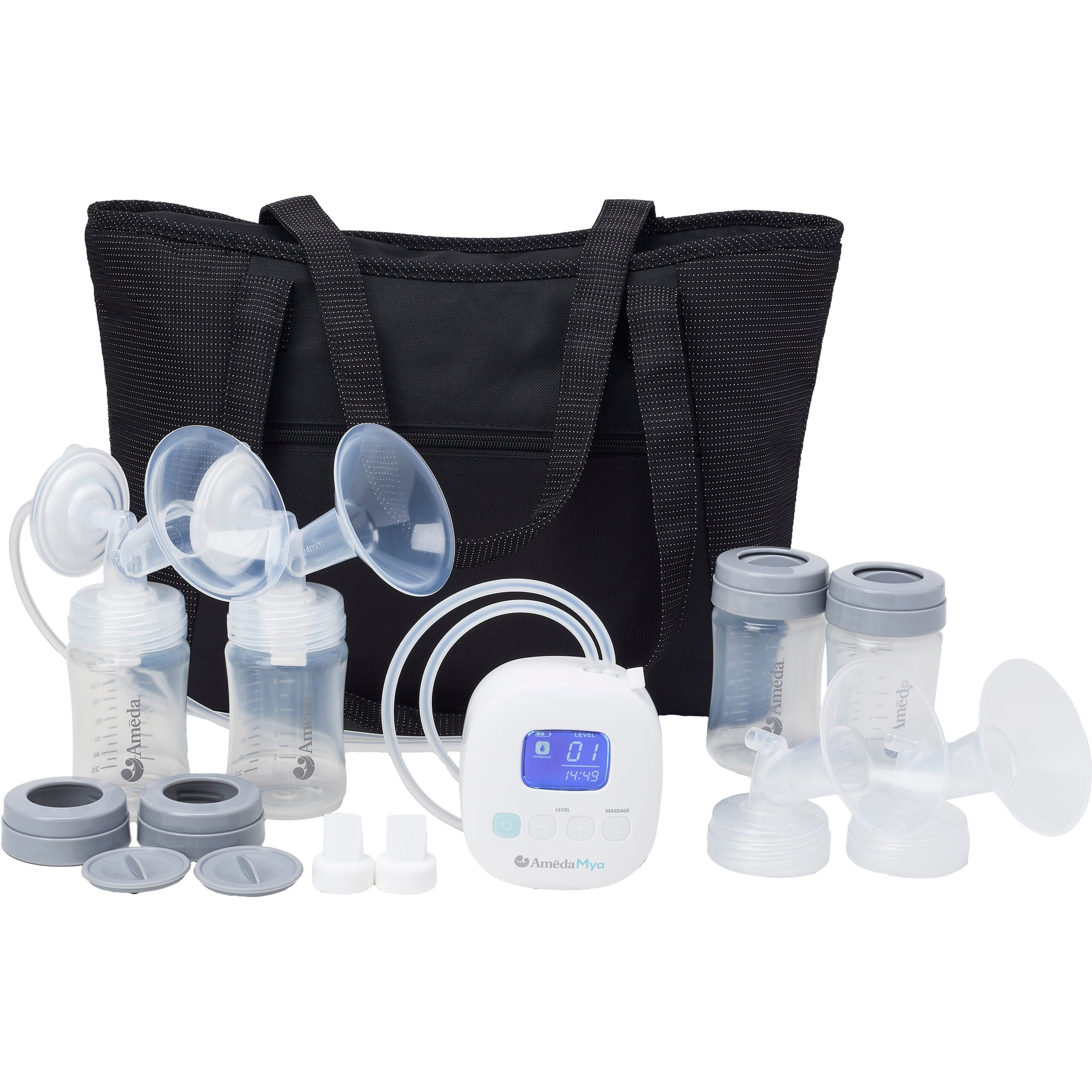 Ameda Mya breast pump with large tote bag