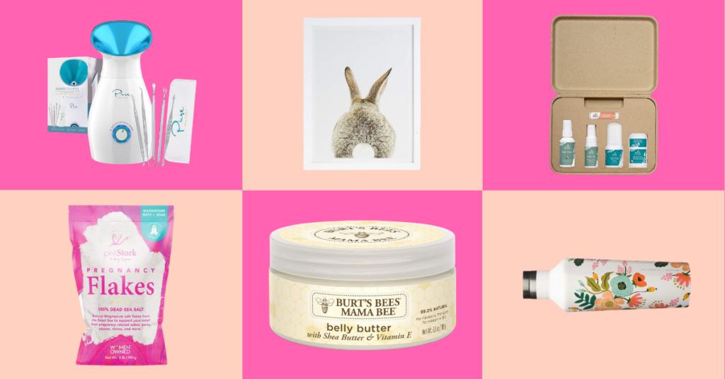 Gifts for Expecting Moms: Art, Skincare, Pregnancy Flakes, Belly Butter, Water Bottle